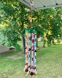 June Craft: Beaded Wind Chimes