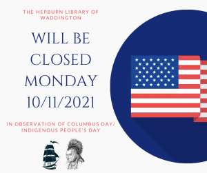 Library Closed (Columbus Day)